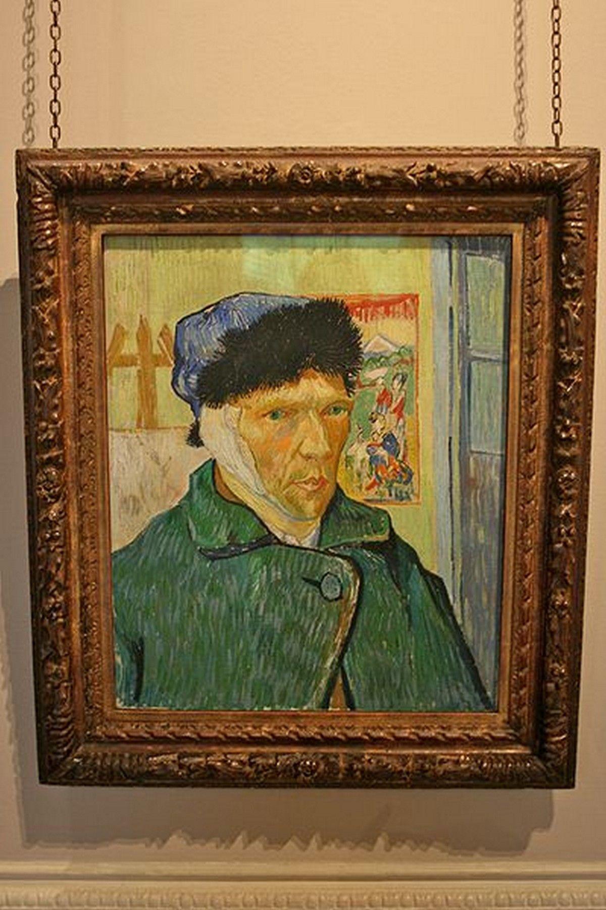 Autoportrait l 39 oreille band e - Vincent van gogh autoportrait a l oreille coupee ...