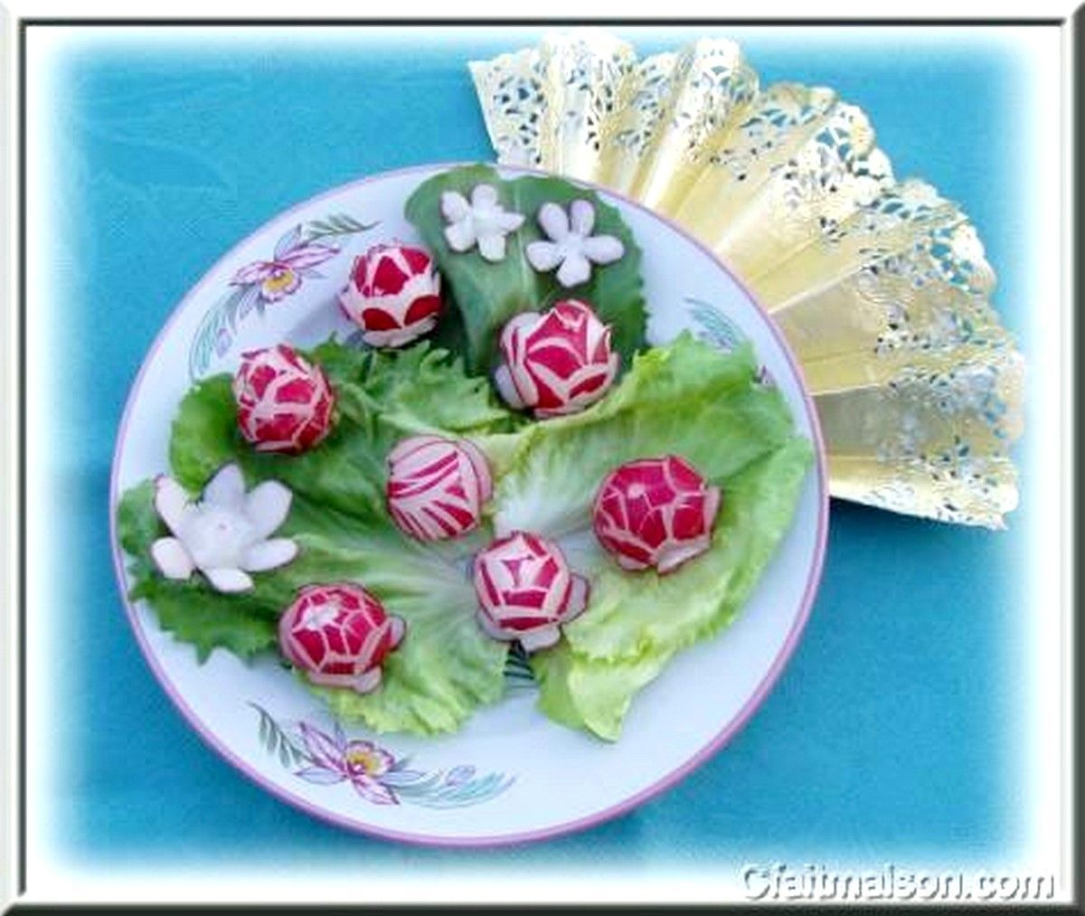 Decoration Legumes Radis : Sculptures de legumes decoratifs page